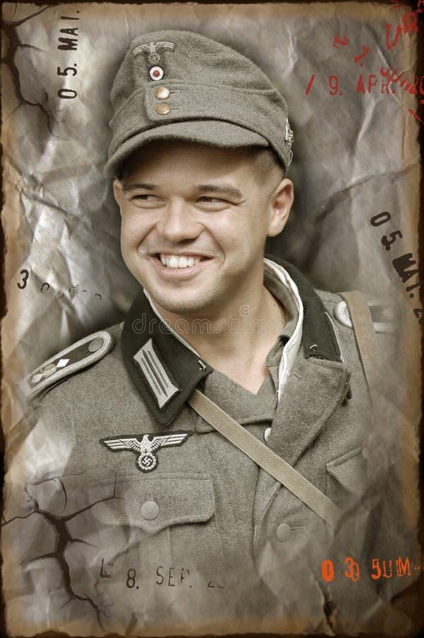 Soldado alemão de WW2 foto de stock