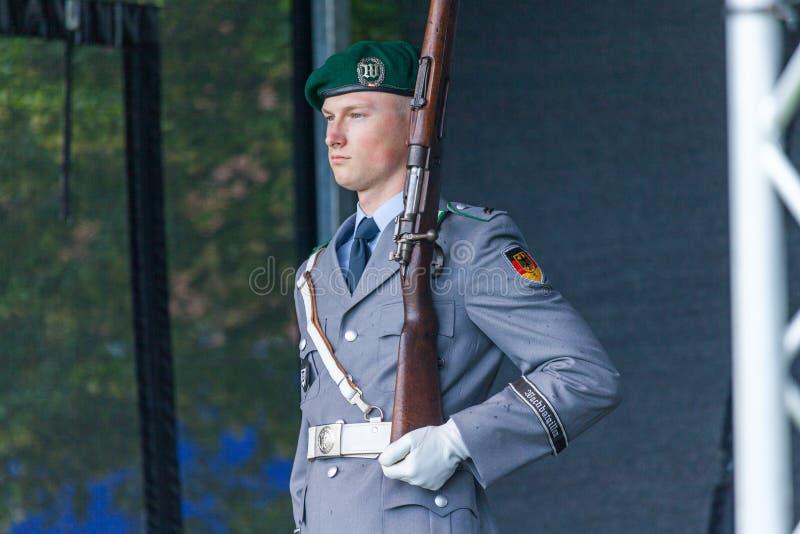 Soldado alemão do batalhão do protetor imagem de stock
