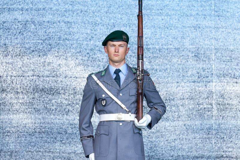 Soldado alemão do batalhão do protetor fotografia de stock