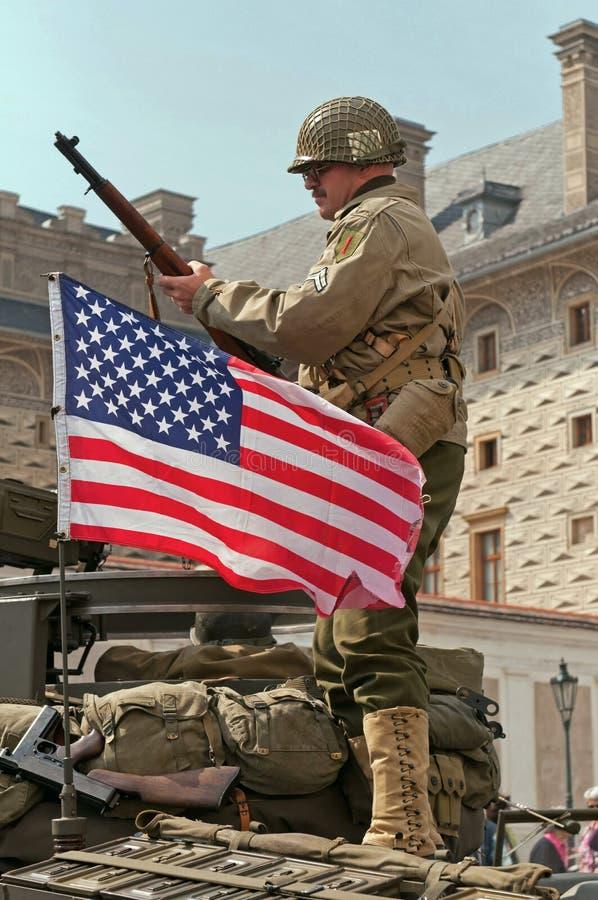 Soldado americano foto de stock