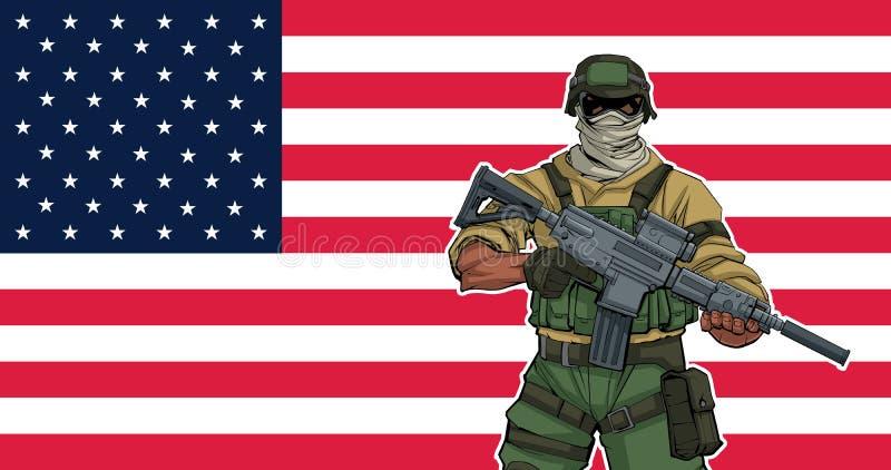 Soldado americano Background libre illustration