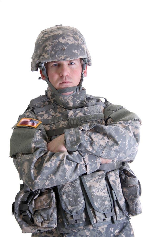 Soldado americano del combate imagen de archivo libre de regalías