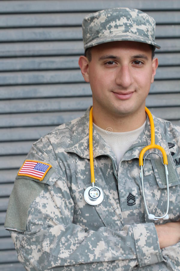 Soldado americano do exército - imagem conservada em estoque imagens de stock