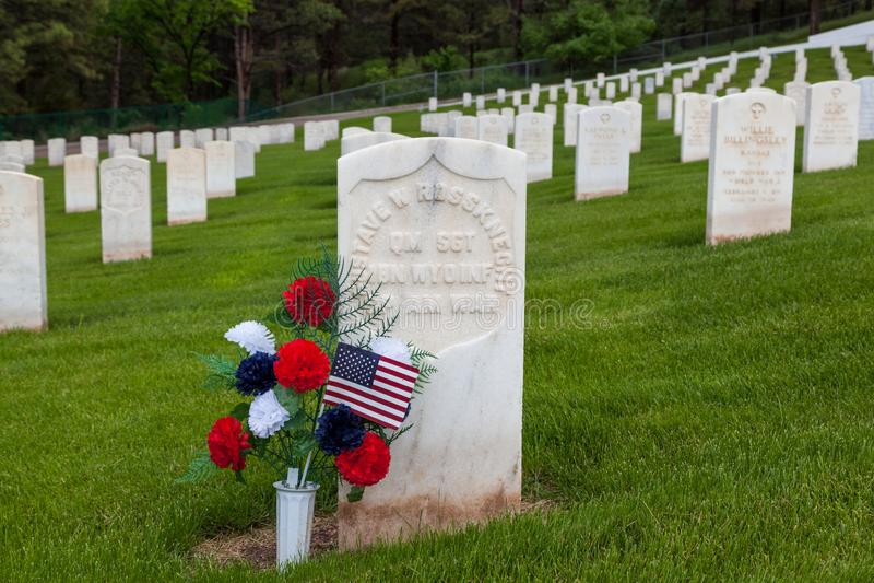 Soldado americano espanhol Headstone da guerra foto de stock