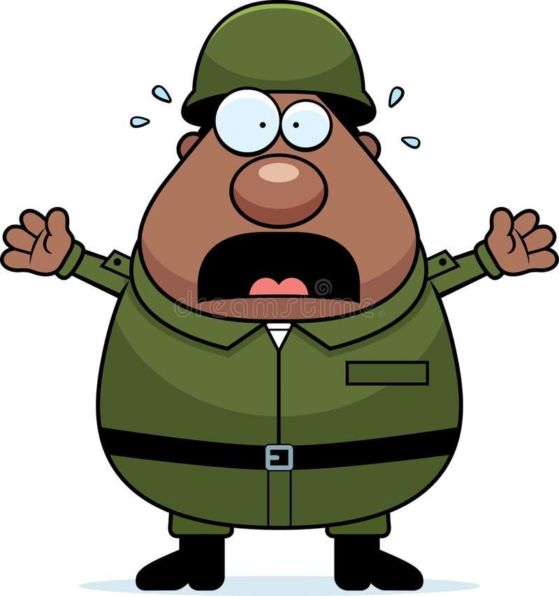 Soldado assustado ilustração stock