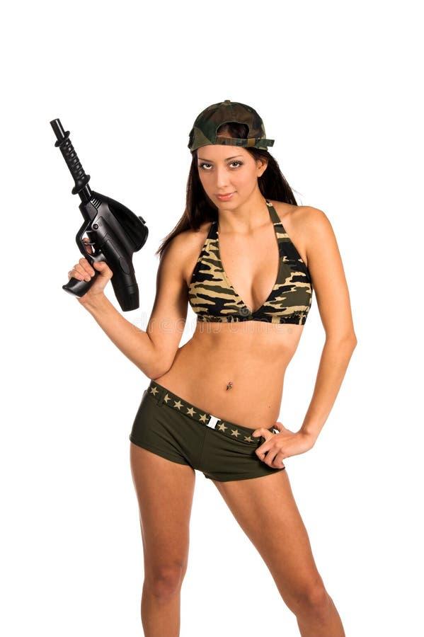 Soldado atractivo fotografía de archivo