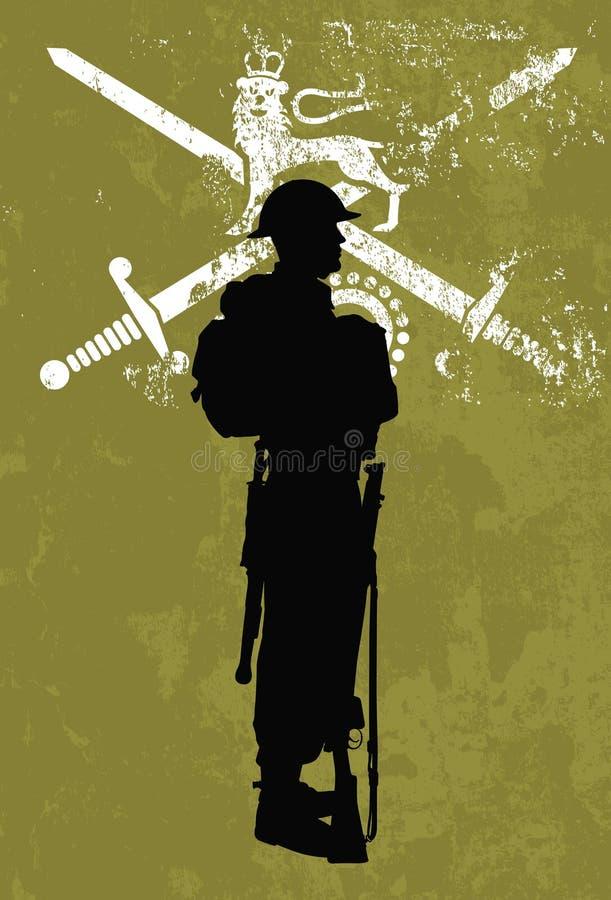 Soldado británico stock de ilustración