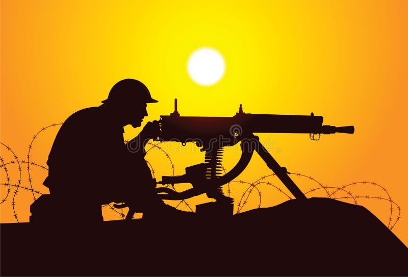 Soldado británico ilustración del vector