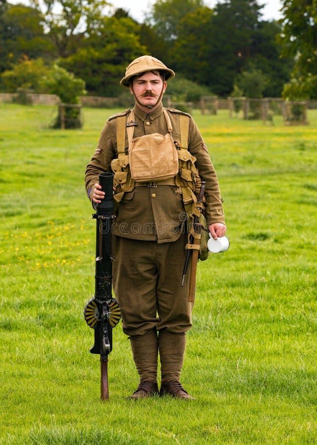 Soldado británico WWI de la infantería imágenes de archivo libres de regalías