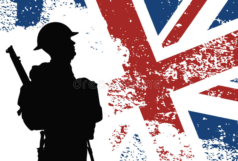 Soldado británico WWII ilustración del vector