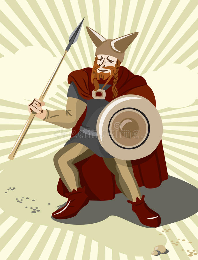 Soldado celta de Keltic ilustração royalty free