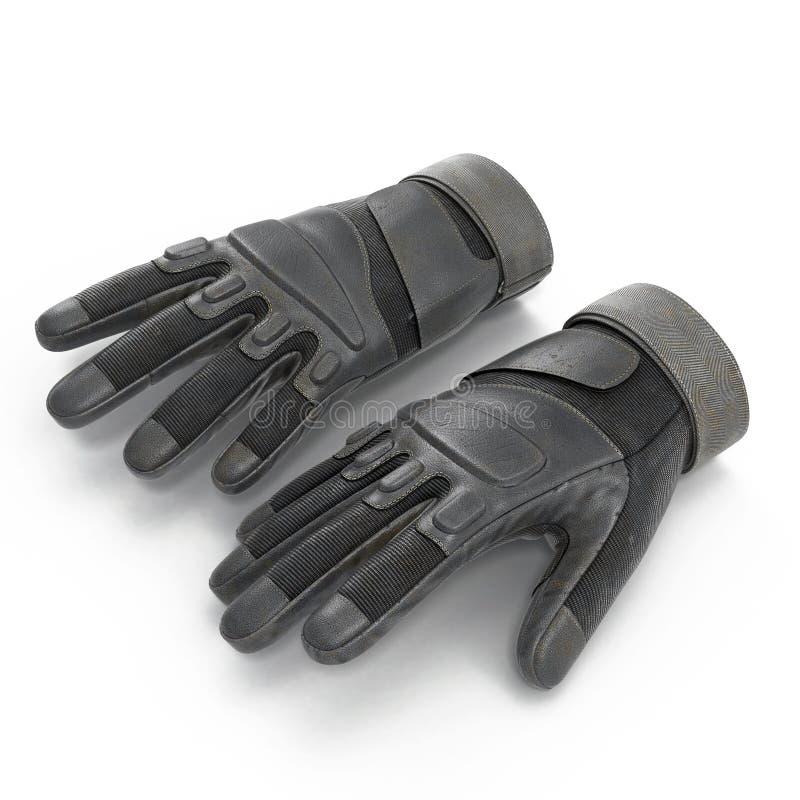 Soldado completo exterior Gloves Tan do assalto do dedo no branco ilustração 3D fotografia de stock royalty free