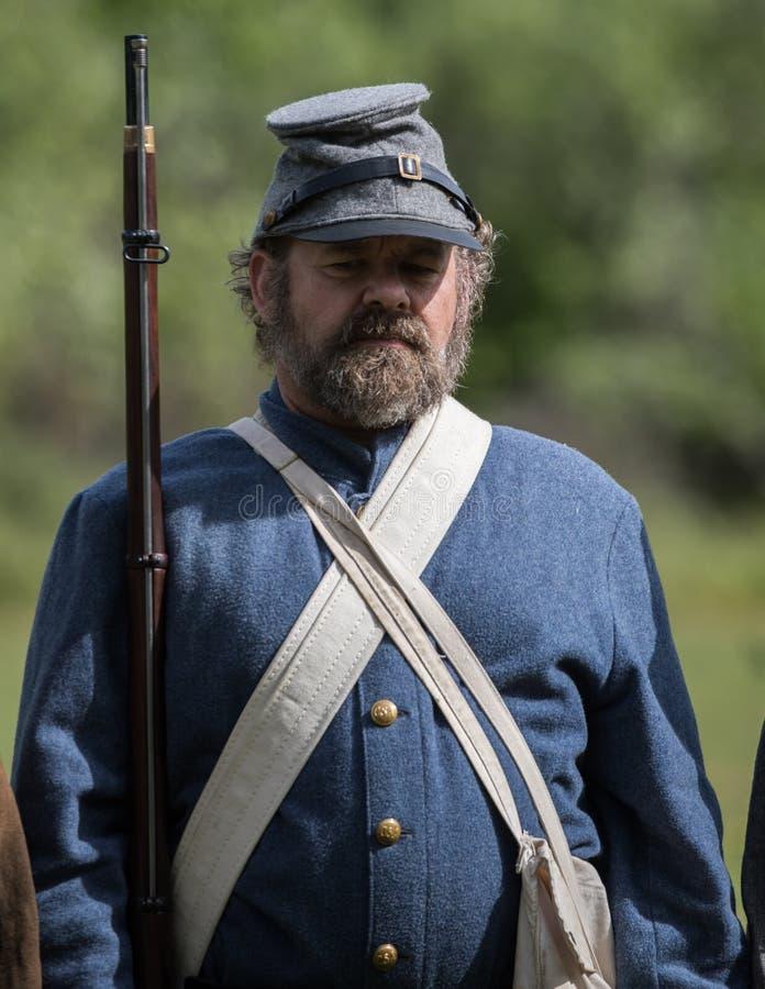 Soldado confederado foto de archivo