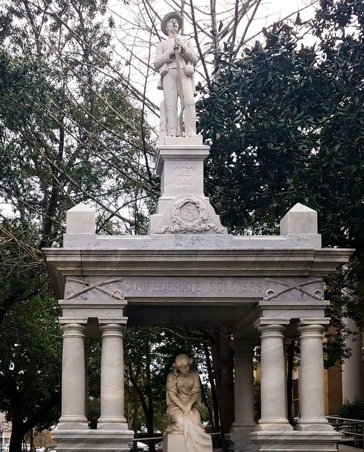 Soldado confederado Memorials no sul imagens de stock