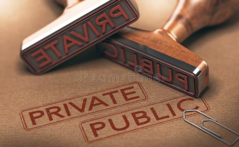 Soldado contra sectores públicos stock de ilustración