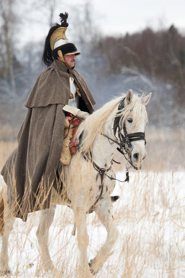 Soldado da cavalaria do russo fotografia de stock royalty free