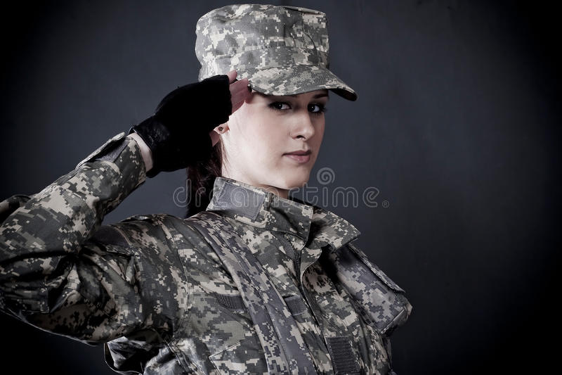 Soldado da mulher imagens de stock