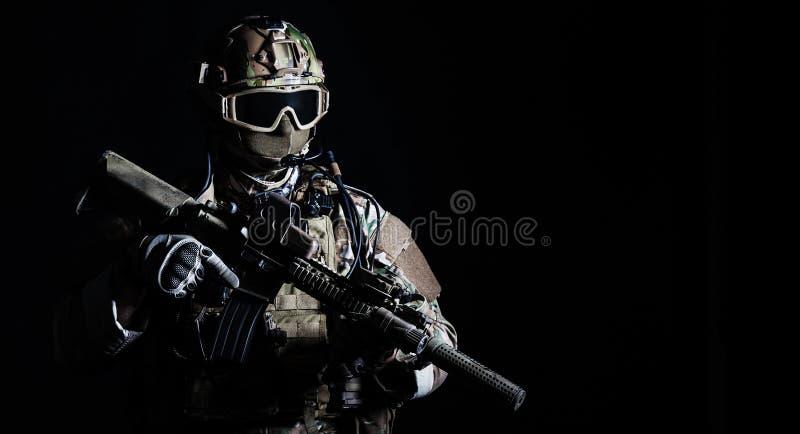 Soldado das forças especiais fotos de stock