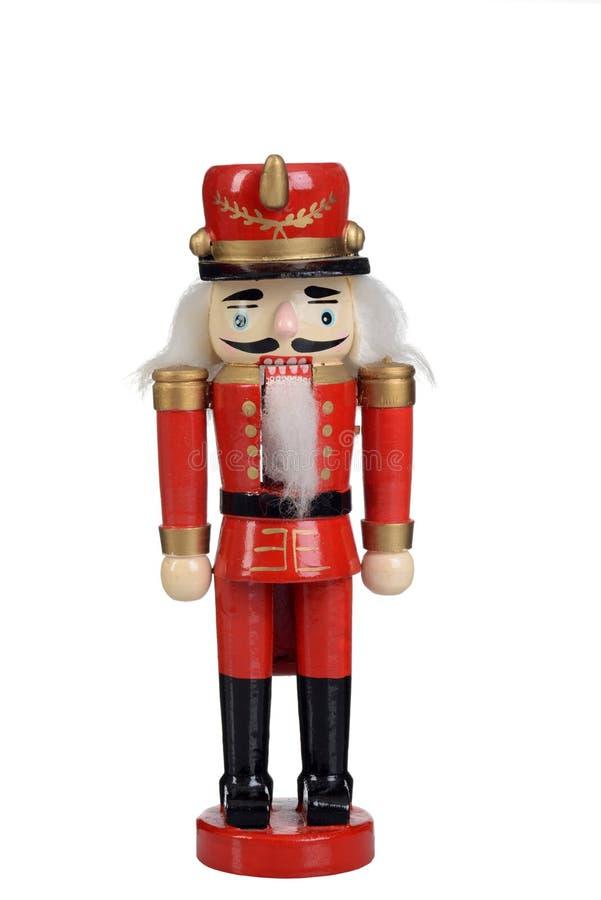 Soldado de brinquedo do Nutcracker isolado foto de stock royalty free