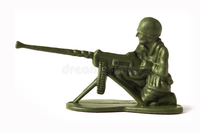 Soldado de brinquedo, isolado no fundo branco imagem de stock