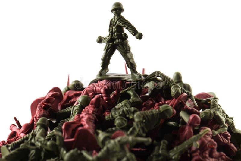 Soldado de brinquedo, isolado no fundo branco imagem de stock royalty free