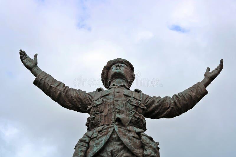 Soldado de bronce fotos de archivo libres de regalías