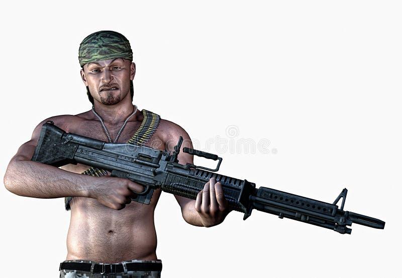 Soldado de fortuna ilustração do vetor