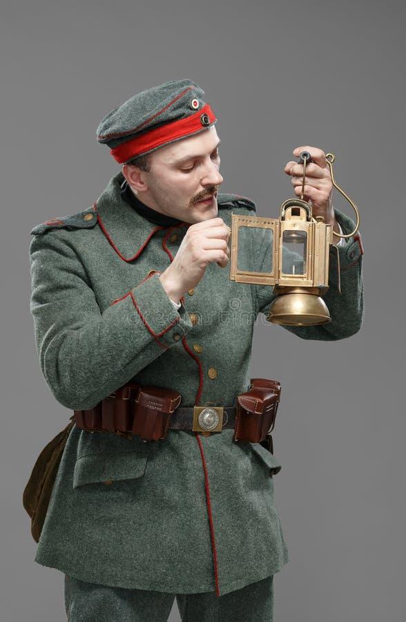 Soldado de infantería alemán durante la primera guerra mundial. fotos de archivo libres de regalías