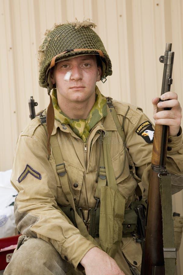 Soldado de infantería de Joe de SOLDADO ENROLLADO EN EL EJÉRCITO imagen de archivo libre de regalías