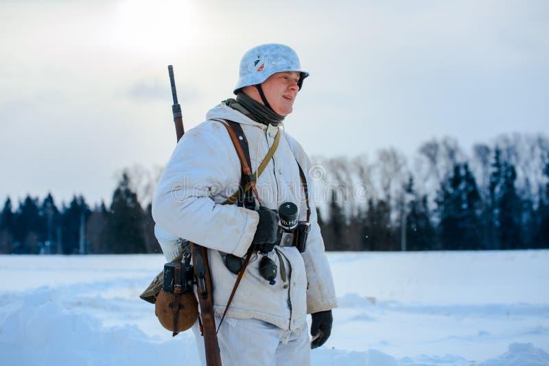 Soldado de infantería de Wehrmacht del alemán foto de archivo