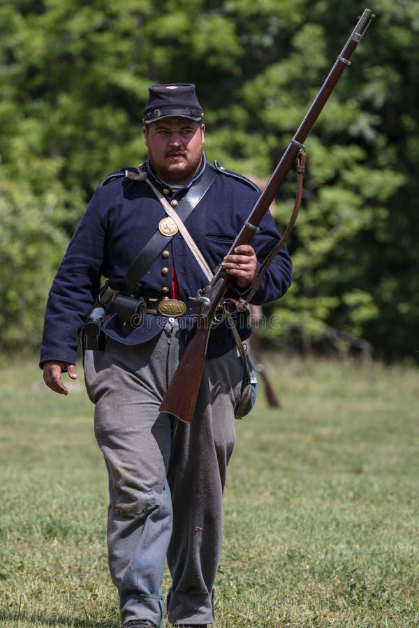 Soldado de infantería de la guerra civil fotografía de archivo libre de regalías