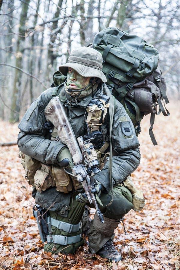 Soldado de Jagdkommando fotografia de stock