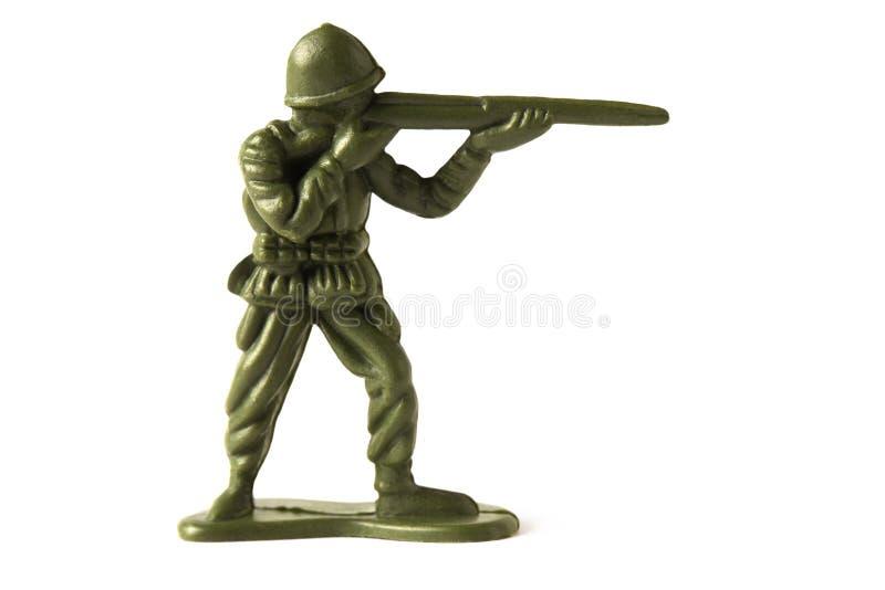 Soldado de juguete, aislado en el fondo blanco imagen de archivo libre de regalías