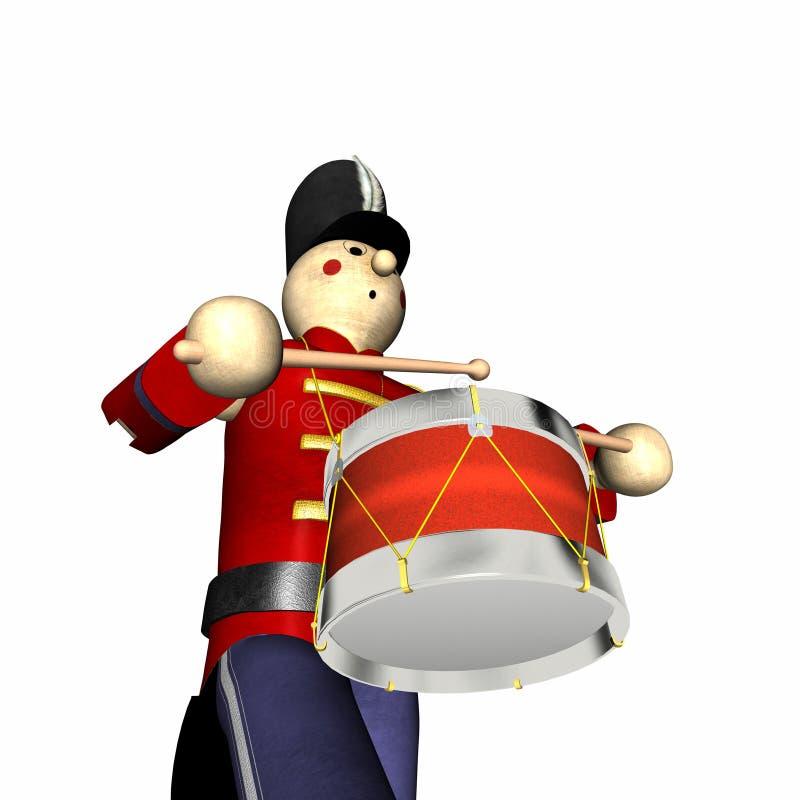 Soldado de juguete de la Navidad - rojo ilustración del vector