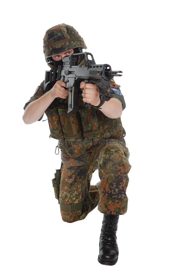 Soldado de la Bundeswehr (ejército alemán). imagen de archivo libre de regalías