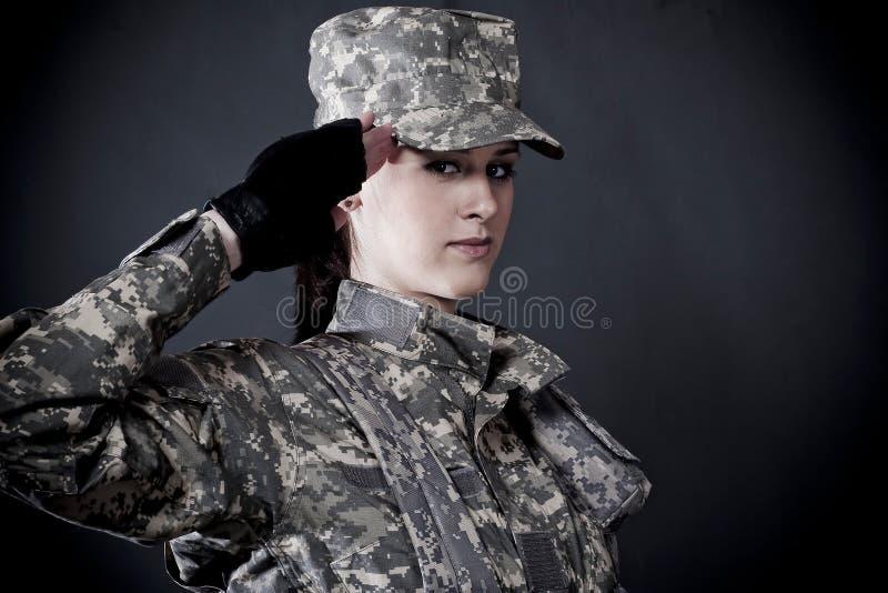 Soldado de la mujer imagenes de archivo