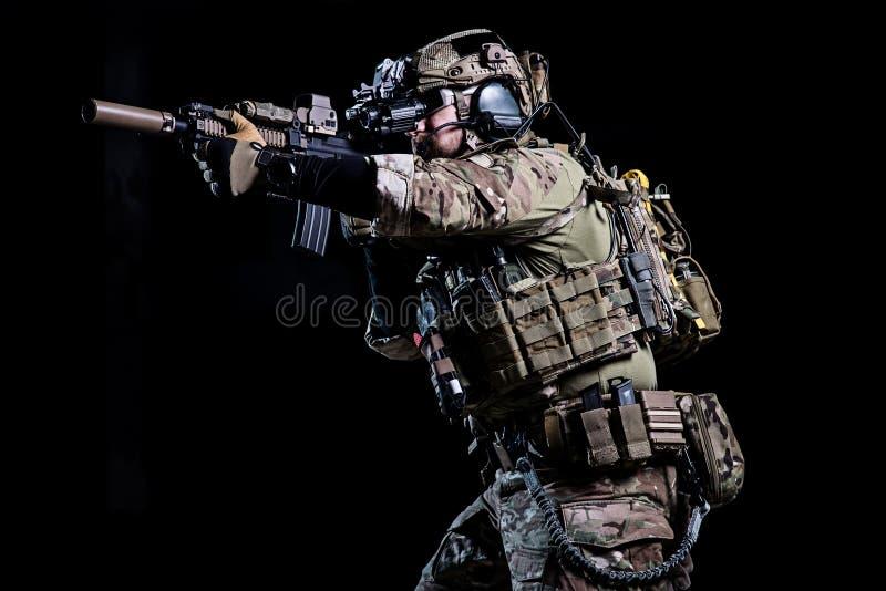 Soldado de los ops de espec. foto de archivo libre de regalías