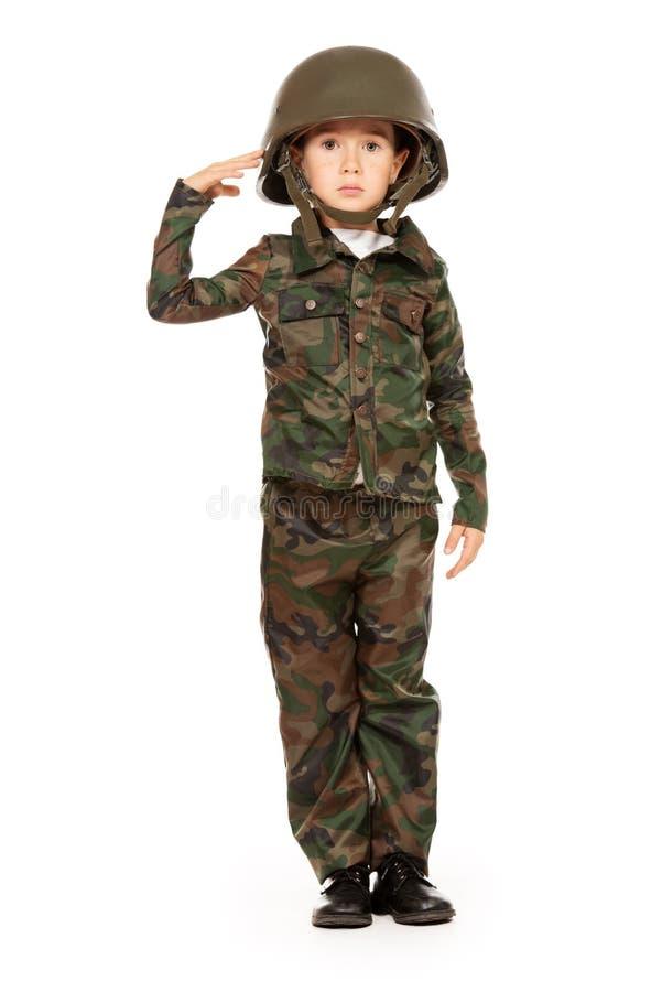 Soldado de saudação foto de stock