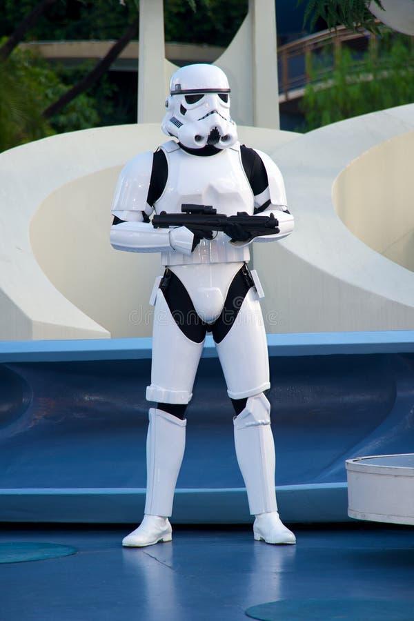 Soldado de Star Wars em Disneylâandia fotografia de stock royalty free