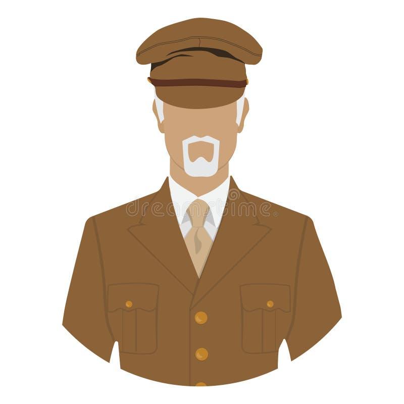 Soldado de veterano ilustração royalty free