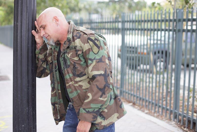 Soldado de veterano agitado fotos de stock royalty free