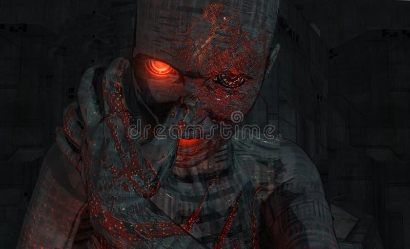 Soldado del Cyborg ilustración del vector