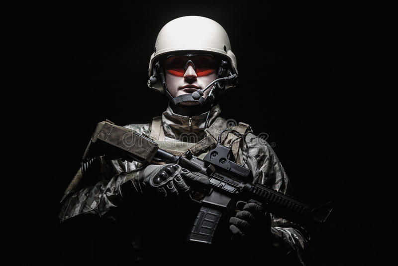 Soldado del grupo de las fuerzas especiales de Ejército de los EE. UU. foto de archivo libre de regalías