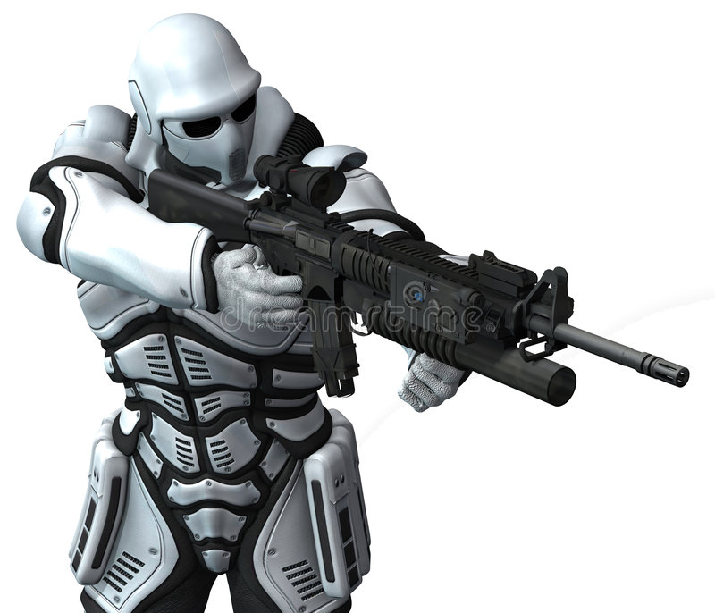 Soldado del infante de marina del espacio. warhammer ilustración del vector