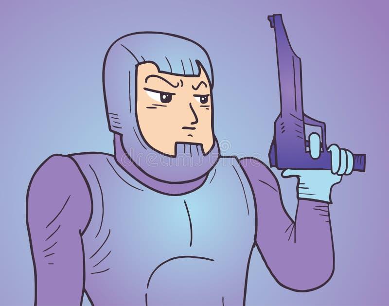 Soldado del pistolero ilustración del vector