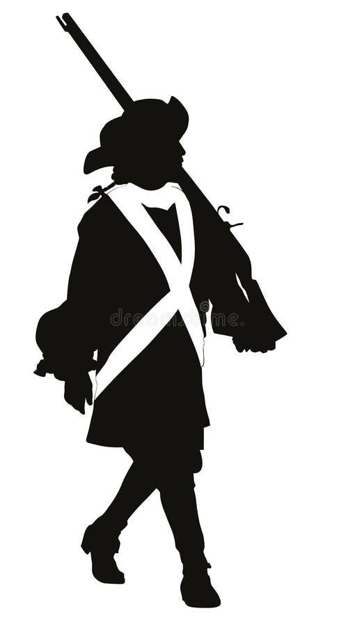 Soldado del vintage Tema de los guerreros stock de ilustración