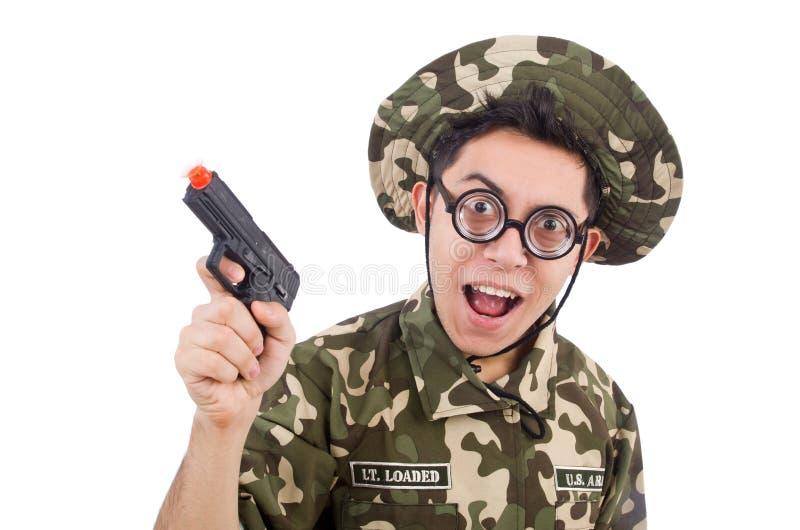 Download Soldado divertido aislado imagen de archivo. Imagen de marcial - 41915219