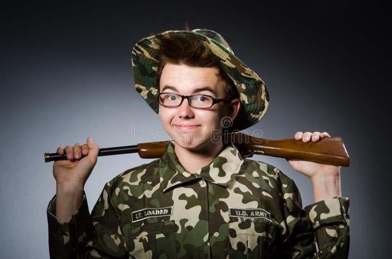 Download Soldado divertido contra imagen de archivo. Imagen de peligro - 41912839