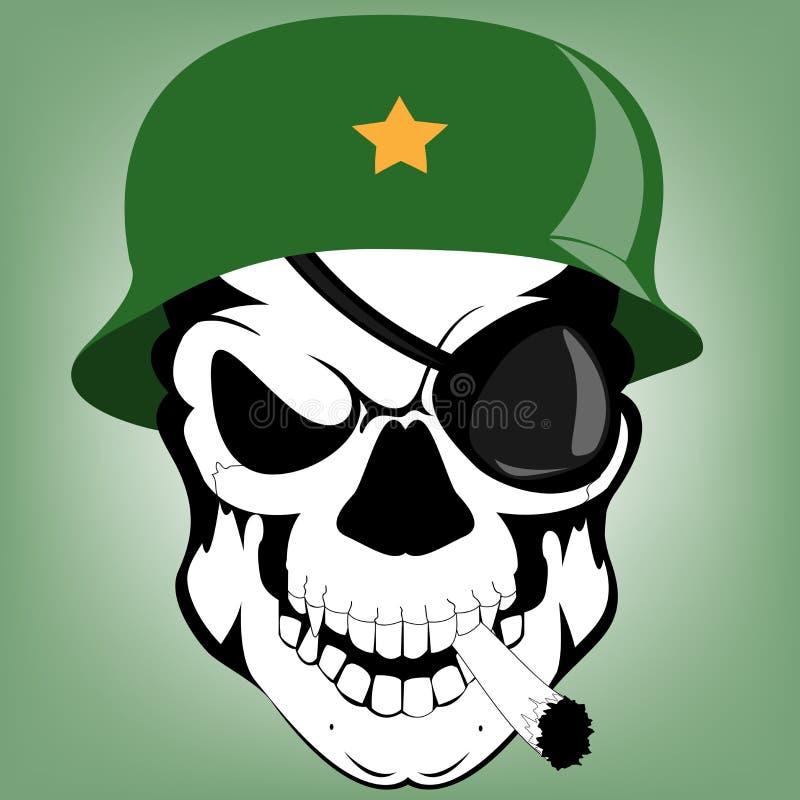 Soldado do crânio ilustração stock