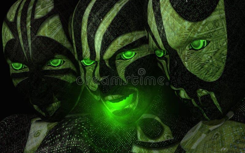 Soldado do Cyborg ilustração royalty free